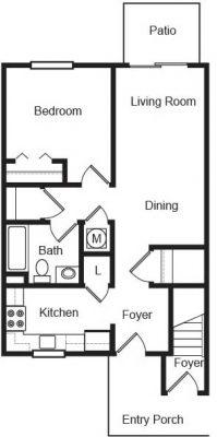 Echo Mountain 1br Floor Plan