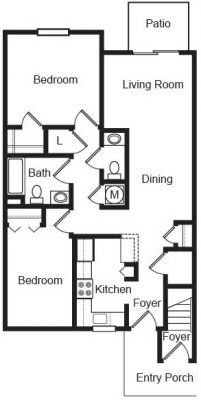 Echo Mountain 2br Floor Plan