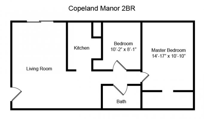 Copeland Manor - 2 Bedroom Floor Plan