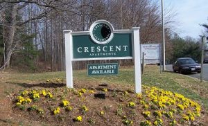 Crescent Apartments Welcome Sign