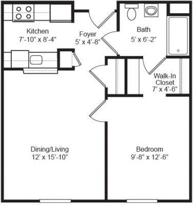 Madonna House 1 Bedroom Floor Plan