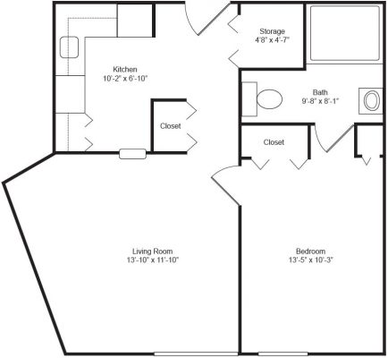 Marywood Apartments Barrier Free Floor Plan