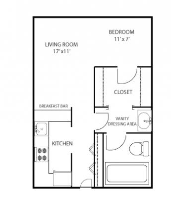 Mass Place Studio Floor Plan