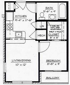 Morris Glen Apartments MGB Floor Plan