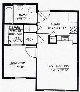 Morris Glen Apartments MGC Floor Plan