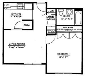 Morris Glen Apartments MGD Floor Plan